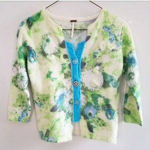 Free People Floral Cardigan Sweater
